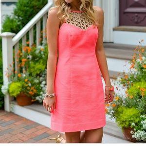Lilly Pulitzer Larina Coral Shift Dress, Size 14